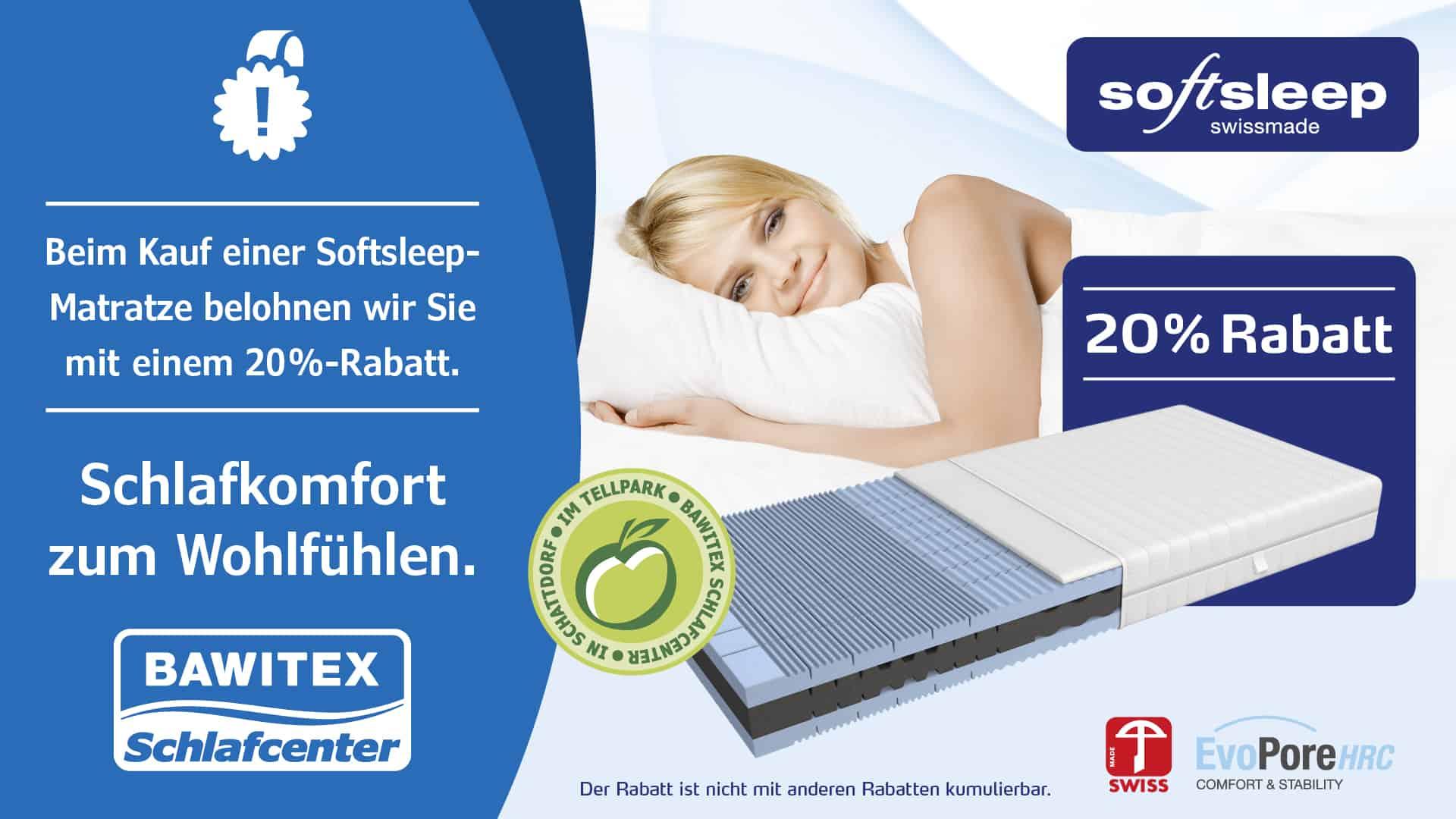 Softsleep Matratzen 20 Prozent